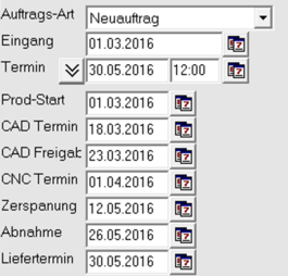 Screenshot DIAS Terminierung